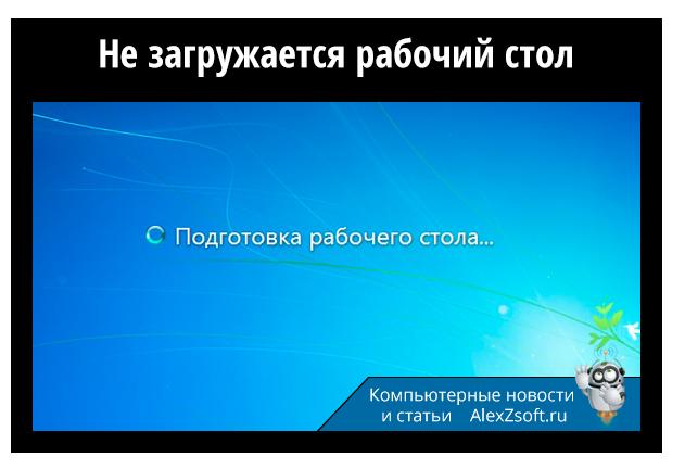 Не загружается рабочий стол в Windows