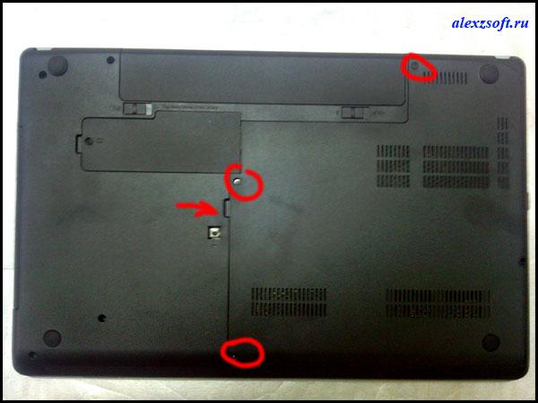как заменить жесткий диск на ноутбуке