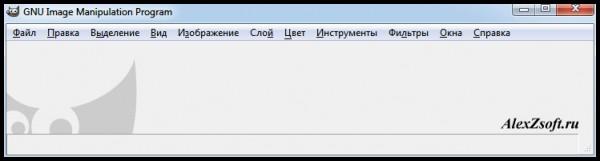 Главное окно программы gimp