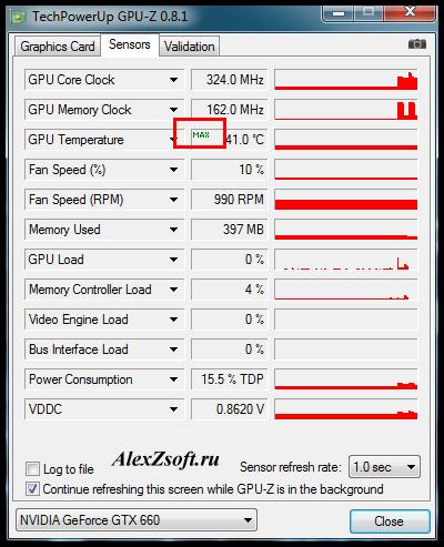 Максимальная температура видеокарты