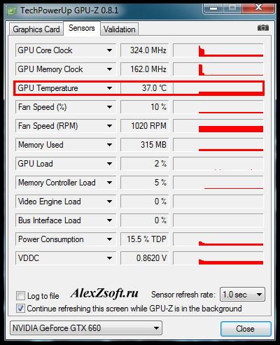 Как узнать температуру видеокарты в windows 7