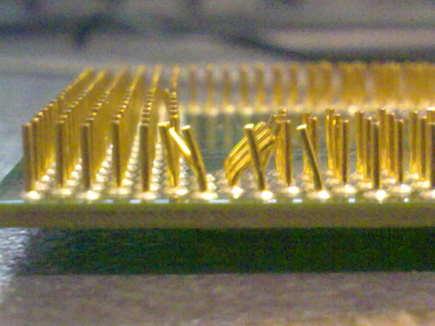 Согнутая ножка процессора