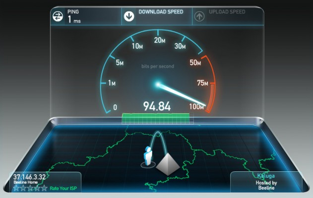 Проверка скорости интернета Калуга