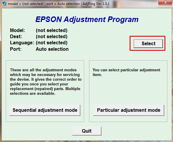 Программа сброса epson