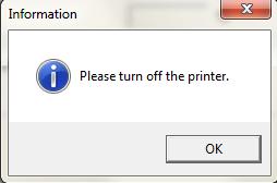 Выключить принтер