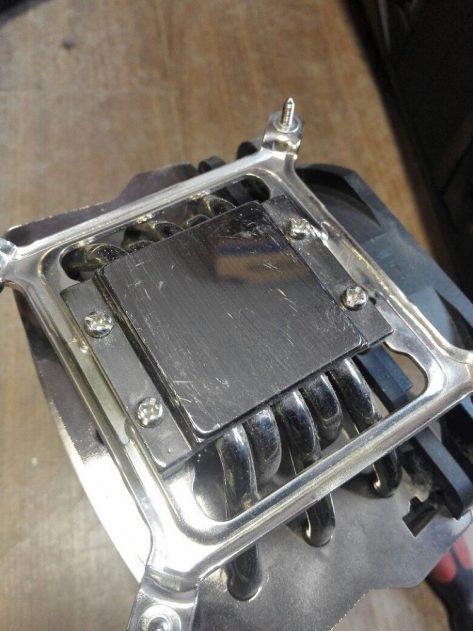Удаление термопасты с кулера