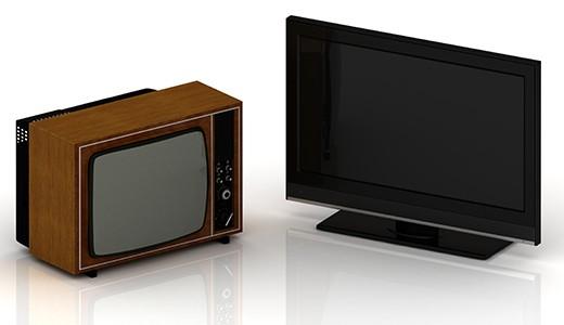 Старый и новый телевизор