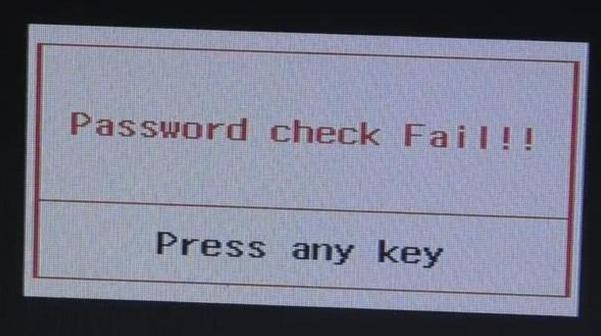 Неверный пароль биос