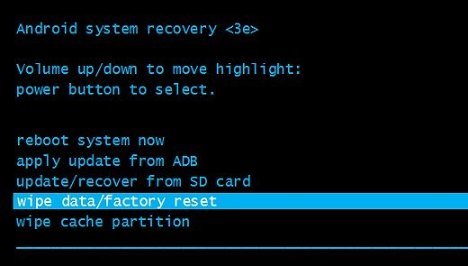 recovery android планшете